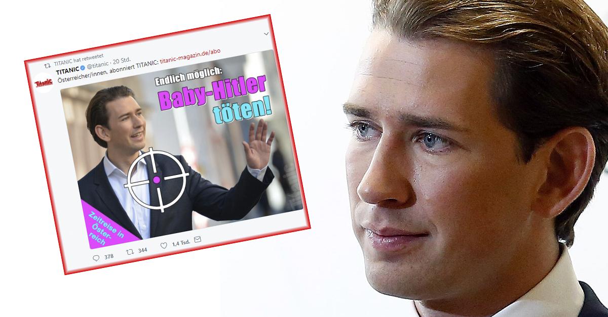 "Satire-Magazin Titanic: ""Baby-Hitler"" Sebastian Kurz töten!"