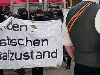 Burschenschafter, Antifa-Demo